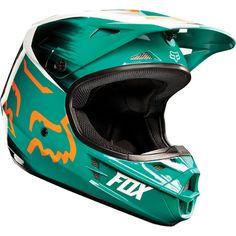 Fox V1 Vandal Helmet style#11018 Color: Green/Orange $169.95