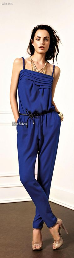 Womans Blue Jumpsuit #UNIQUE_WOMENS_FASHION