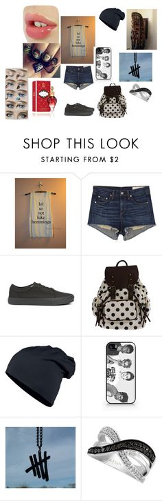 """""""5sos-Luke"""" by xxstay-weirdxx ❤ liked on Polyvore featuring rag & bone/JEAN, Vans, Samsung and LeVian"""