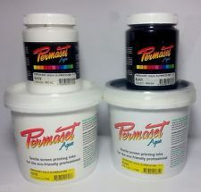 Permaset Aqua Supercover Fabric Screen Printing Ink Fabric Paint  Airbrushing