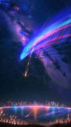 Night Sky Meteor Light iPhone Wallpaper - iPhone Wallpapers