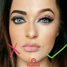 Drawing eyeliner is an art in itself and it needs precision, focus and some effort to get a wonderful result. For highlighting your eyes we have collected Eyebrow Makeup Tips, Makeup Tricks, Contour Makeup, Skin Makeup, Makeup Ideas, Makeup Quiz, Makeup Meme, Makeup Eyebrows, Eye Liner Tricks