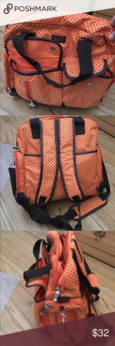 Orange diaper bag Orange diaper bag, shoulder strap or make it a backpack in great condition. Bags Baby Bags