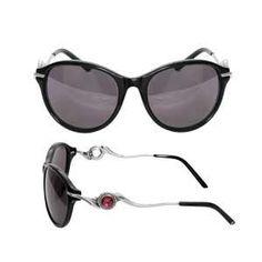 KSG018B - Black Swoop Arm Sunglasses shown with KJP169 Verry Cherry JewelPop