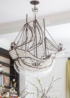 Z gallerie crystal ship chandelier 899 for a bit of whimsy only conjuring up magical feelings of wanderlust a ship shape chandelier found at a mozeypictures Images