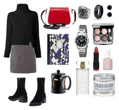 """Dark Graphic"" by diabolissimo ❤ liked on Polyvore featuring Chanel, Essie, NYX, White Stuff, L'Occitane, Invicta, Proenza Schouler, NOVICA, Estée Lauder and Jil Sander"