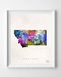 Mississippi USA state map 8x10 art print poster watercolor painting wall art
