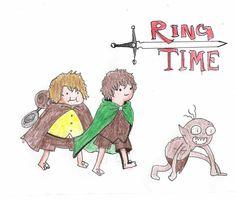 Adventure Time lotr fan art
