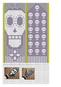 trendy knitting charts skull day of the dead