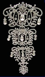 Victorian Diamond Corset Brooch/Stomacher  ornamentedbeing.tumblr.com