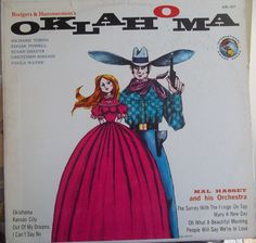 Oklahoma! Mal Hasset and His Orchestra, Vintage Record Album, Vinyl LP, Rodgers and Hammerstein, Musical, International Award Series by VintageCoolRecords on Etsy