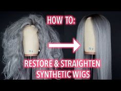 (13) How To Restore and Straighten A Synthetic Wig! - YouTube