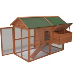 Raise your chickens within the ease and safety created by the 71-inch Pawhut backyard chicken coop. Featuring multi-leveled outdoor and indoor sections, this coop includes a ramp that allows for easy