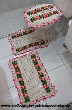 Jogo de banheiro   Patricia crochetando   31AC07 - Elo7