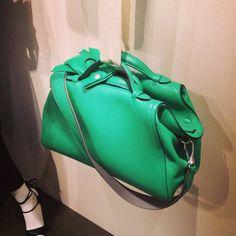 Hermes Green Oxer Bag - Spring 2014 - via wmagazine