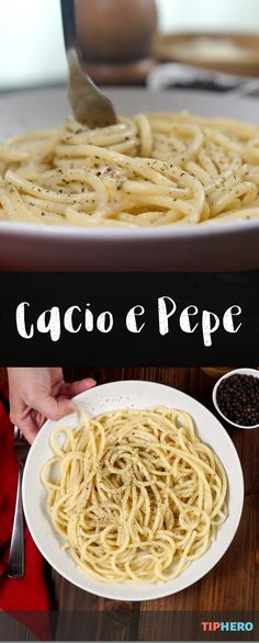 """Have you ever tried """"Cacio e Pepe"""" before? It might sound fancy – Italian has that effect – but when it's translated? It just means cheese and pepper! Those ingredients are the stars of this pasta dish, and like all the best meals, it's totally simple and simply delicious. Click to watch how easy it is to make, and impress your friends and family by giving it a try.  #dinnertime #familydinner #pasta"""