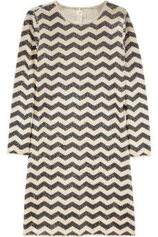 J.Crew sequined chevron dress