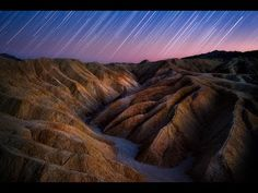 Star Trails Over Golden Canyon, By: Steve Perry Photoshop Photography, Night Photography, Photography Tutorials, Photography Props, Nature Photography, How To Photograph Stars, Star Trails, Death Valley National Park, Steve Perry