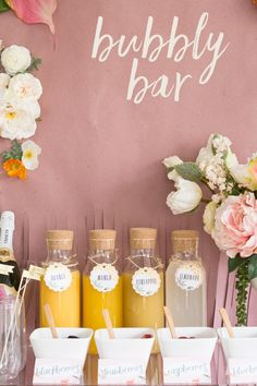 Create a fun mimosa bubbly bar for your next bridal shower or brunch. The Ruffled Blog created these beautiful juice tags using Avery Printable Round Scallop Tags (80503) and Avery Tent Cards (5302) for the buffet cards.