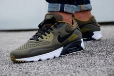 Nike Air Max 90 Ultra Special Edition Cargo Khaki/ Black-Olive Flak-White - 845039-300