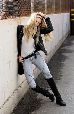 Perfect moto jacket and boots combo