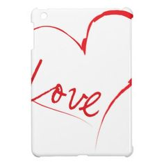 Love Heart iPad Mini Cover - Saint Valentine's Day gift idea couple love girlfriend boyfriend design
