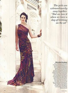 Michelle Dockery of Downton Abbey, photographed for Vogue UK.