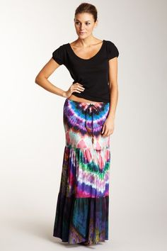 Sky Tiered Maxi Skirt by Blowout on @HauteLook