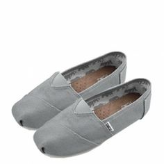 Toms Womens Canvas Grey Shoes