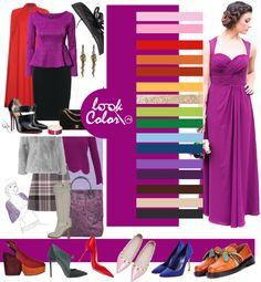 Сочетание красно-пурпурного в одежде