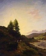"""New artwork for sale! - """" On The Dee Near Woodend Aberdeenshire 1867 by Farquharson Joseph """" - http://ift.tt/2ibfvog"""
