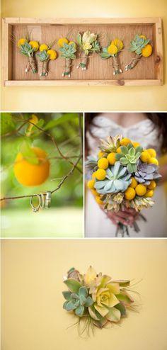 Succulent wedding theme