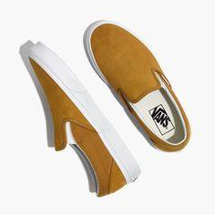 8877ea175f41 Madewell Vans® Unisex Classic Slip-On Sneakers in Medal Bronze Suede Ladies  Dress Design