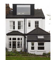 Large window loft extension. Andrew Mulroy architects Loft Room, Bedroom Loft, Loft Conversion Roof, Loft Conversions, Loft Dormer, Dormer House, Roof Extension, Edwardian House, Dormer Windows