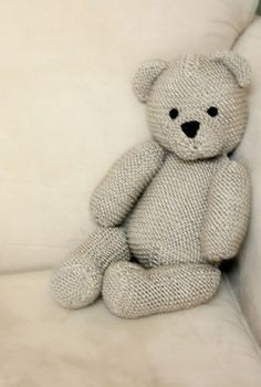 perfect teddy bear knitting pattern ~ this pattern is available in the Debbie Bliss, Simply Baby pattern book