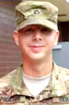 Army SPC. David T. Proctor, 26, of Greensboro, North Carolina. Died March 13, 2013, serving during Operation Enduring Freedom. Assigned to 2nd Battalion, 7th Infantry Regiment, 1st Armor Brigade Combat Team, 3rd Infantry Division, Fort Stewart, Georgia. Died at Walter Reed National Military Medical Center, Bethesda, Maryland, from injuries sustained during a non-combat incident on March 3, in Kandahar Province, Afghanistan.
