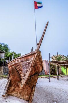 Abandoned boat, Abu Dhabi, United Arab Emirates