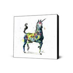 Unicorn Large Art Block now featured on Fab.