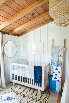 Indigo boho boy's nursery