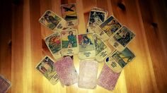 The cards of the sister of my Grandpa. More than 70 years old gipsy cards. I love touching thesm and remember my loved ones and their lives which will always remain a mistery to me.