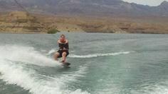 Wesley wakeboarding