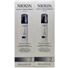 Nioxin System 2 Scalp Treatment for Fine Thinning Hair 6.8 oz 2 Pack -- This is an Amazon Affiliate link. Check out the image by visiting the link.