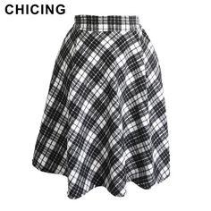 Vintage Plaid Woolen Skirt Only $22.94 => Save up to 60% and Free Shipping => Order Now! #Skirt outfits #Skirt steak #Skirt pattern #Skirt diy #skater Skirt #midi Skirt #tulle Skirt #maxi Skirt #pencil Skirt