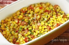 Corn Salsa with Lime - I love the corn salsa from Chipotle's. It's a perfect combination of sweet, spicy and tangy.