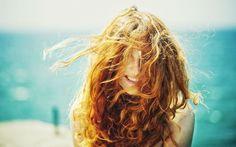 women, Curly Hair, Sunlight, Hair In Face, Smiling, Redhead HD Wallpaper Desktop Background
