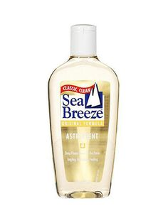 """11/21 SLIDES © COURTESY OF BRANDS SEA BREEZE ASTRINGENT """"Beautiful skin can be a breeze with Sea Breeze,"""" or at least that's what the commercials used to tell us. This pale-blue toner was for the take-no-prisoners acne-fighting set. Just douse a cotton ball with it, rub it all over your face, and feel the """"this must be working"""" sting."""