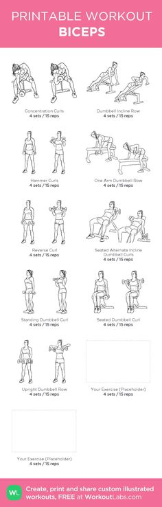 BICEPS: my custom printable workout by @WorkoutLabs #workoutlabs #customworkout
