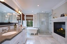 Transitional Master Bathroom with Undermount sink & Limestone counters in Corona Del Mar, CA | Zillow Digs