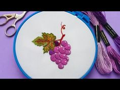 How to embroider grapes * hand embroidery * satin stitch Embroidery Patterns, Hand Embroidery, Brazilian Embroidery, Satin Stitch, Raisin, Elsa, How To Find Out, Hands, Make It Yourself
