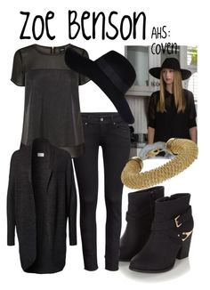 """""""Zoe Benson"""" by evil-laugh ❤ liked on Polyvore featuring moda, H&M, Oasis, VILA, River Island, Topshop, ahs ve Coven"""